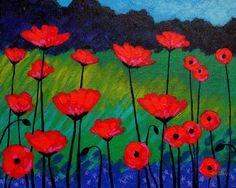 Poppies Painting - Poppy Corner by John Nolan Poppy Flower Painting, Acrylic Painting Flowers, Acrylic Artwork, Watercolor Flowers, Watercolor Art, Poppies Painting, Artist Art, Painting Inspiration, Collage Art