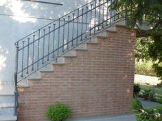 Scale e ringhiere esterne | Rosso Ferro Battuto B & B, Stairs, Padova, Industrial, Patio, Garden, Beautiful, Home Decor, Stairway