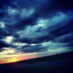 Sunset from Hwy 190 S in Port Allen, LA #louisiana #sunset #portallen #westbatonrouge