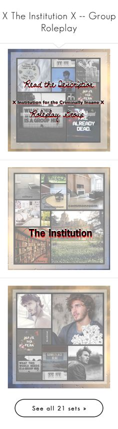 """""""X The Institution X -- Group Roleplay"""" by pr-in-ce-ss-es ❤ liked on Polyvore featuring art, XTheInstitutionX, Sirena, Sola, fairydxstasylum, Finders Keepers, AMIRI, Lynn Ban, roleplay and Group"""