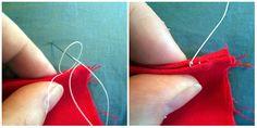 Как выполнить потайной шов вручную