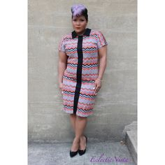 Vintage Dresses & Skirts - NEW Vintage Chevron Day Dress