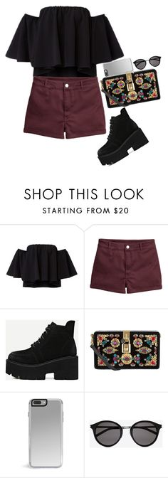 """""""Sin título #443"""" by nare-861 ❤ liked on Polyvore featuring H&M, Dolce&Gabbana and Yves Saint Laurent"""