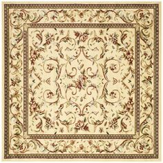 Rosalind Wheeler Markenfield Ivory Area Rug Rug Size: Square 10'