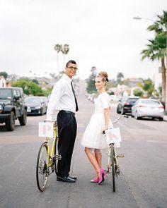 25 Super Chic Short Wedding Dresses   SouthBound Bride   http://www.southboundbride.com/short-wedding-dresses   Credit: Chelsea Scanlan/Bon Wed/Illume Gowns via Style Me Pretty