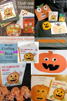 Happy Pumpkin Day Mouse - Happy Pumpkin Day Mouse is a FANTASTIC book for little kids. Come see what easy crafts the Monthly Crafting Book Club has created for September's book!