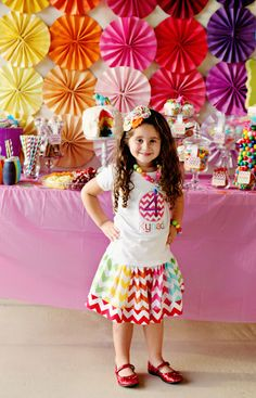"Photo 2 of 18: Rainbow Party / Birthday ""Kynadi's 4th Birthday Party"" | Catch My Party"