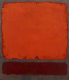 "dailyrothko: ""Mark Rothko, Untitled (Orange, Red and Red), 1962, oil on canvas """