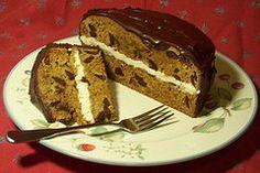 Holiday Vegan Pumpkin Chocolate Cake with Soy Nog Ganache