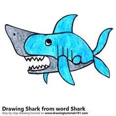 Shark from word Shark
