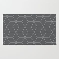 Hex Charcoal Area & Throw Rug