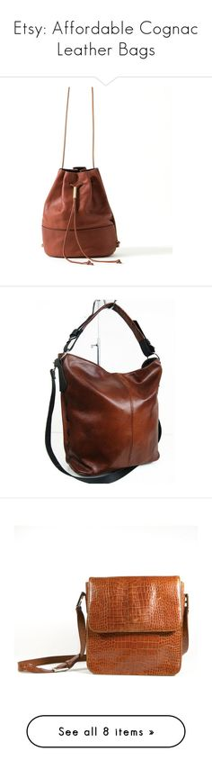 """""""Etsy: Affordable Cognac Leather Bags"""" by piplusc ❤ liked on Polyvore featuring bags, handbags, vintage bags, structured handbags, lizard bag, brown purse and hand bags"""