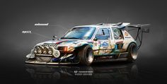 ArtStation - Peugeot 205 T16 on Steroids Inbound Racer, Yasid Oozeear