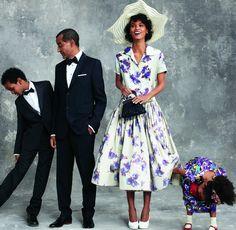 Suhul Kebede, Kassy Kebede, Liya Kebede, and Raee Kebede photographed by Arthur Elgort, Vogue, April 2011.