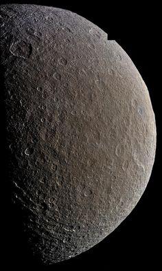 Cassini Rhea mosaic February 2015 (ir3 grn bl1 filter) from 53.700 km   by 2di7 & titanio44