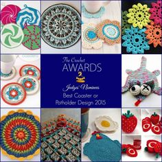 80 Best #Crochet Patterns for the #Home: Nominations for 3rd Quarter #thecrochetawards - BEST COASTERS