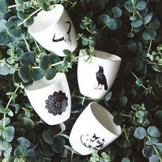 Le set de 5 mugs Boho Vanilla sky ***