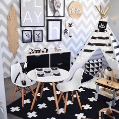 So much monochrome goodness by @hudson_and_harlow in this room. Love seeing our Play print in here! Don't forget, free delivery Australia wide ends midnight. Use code AUSSIE at the checkout #grey #monochrome #playroom #playprint #playposter #kidsstyling