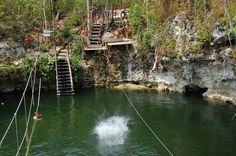 Zip-lining in Puerto Morelos, #Mexico.