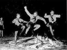 Hitler Youth - The Prelude to War - The summer solstice is celebrated with HJ members leaping over the Sonnenwendfeuer.