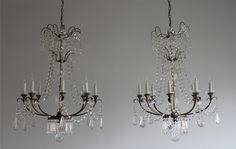 This gorgeous pair of late 19th century Belgian chandeliers will be with lighting experts Norfolk Decorative Antiques.
