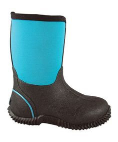 Love this Blue & Black Amphibian Barn Boot - Kids by Smoky Mountain Boots on #zulily! #zulilyfinds i bought these for my 5 year old..they are great!  excellent quality!