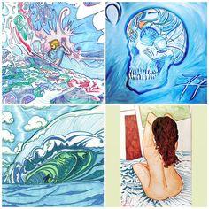 Lüthårt   #Hamptons #NY   #Surf #Art #Skulls & #Nudes