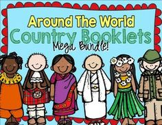 Country Booklets BUNDLE!-- 14 of my Country Booklets that can be used during social studies units about countries around the world! TeachersPayTeachers