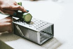 Turn a box grater on its side for speedy julienned veggies. | 15 Cooking Hacks Every Twentysomething Should Know