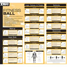 TKO Fitness Balls come with an exercise chart to help you get started.