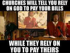 Stop tithing use that money to feed a homeless vet that the churches and govt are not doing.dont feed the wolves Losing My Religion, Anti Religion, Religious People, Atheism, History Facts, Real Talk, Christianity, Spirituality, Told You So