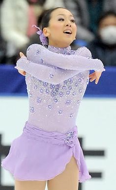 Mao Asada -Purple/Lilac Figure Skating / Ice Skating dress inspiration for Sk8 Gr8 Designs.