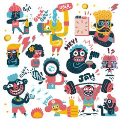 pics is another side project of dedicated to interface illustrations. I made some illustrations for this project. Collage Illustration, Graphic Illustration, Illustrations, Illustration Styles, Character Design Animation, Character Drawing, Ipad App, Uber, Etch A Sketch