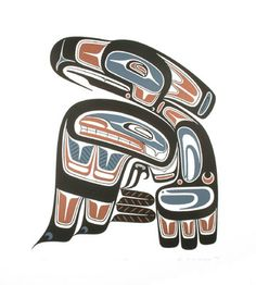 This is my brother's Haida art!  Love it!