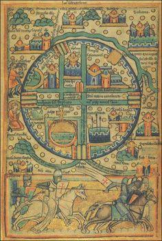 Knights Templar Crusader Ancient Map of Jerusalem. Old Maps, Antique Maps, Vintage Maps, Medieval World, Medieval Art, Gravure Illustration, History Articles, Jugendstil Design, Map Globe