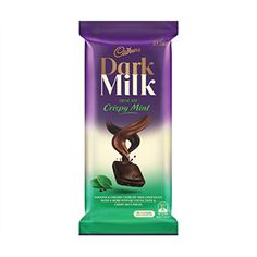 A bulk box of 20 Cadbury Dark Milk Mint. Cadbury Milk Chocolate, Cadbury Dairy Milk, Chocolate World, Selection Boxes, Butter Cheese, Mint Candy, Chocolate Packaging, Confectionery, Natural Flavors