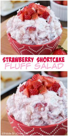 Strawberries and angel food cake stirred into a creamy pudding makes a delicious sweet salad. Strawberries and angel food cake stirred into a creamy pudding makes a delicious sweet salad. Fluff Desserts, Köstliche Desserts, Delicious Desserts, Pudding Desserts, Angel Food Cake Desserts, Cheesecake Pudding, Strawberry Fluff, Strawberry Recipes, Fruit Recipes