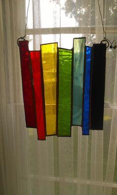 Rainbow stained glass sun catcher