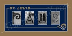 I want to do something like this...but say St. Louis at the top and then have like a blues picture, a cardinals picture, an arch picture, and SEMO