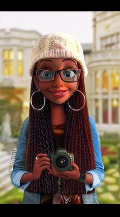 Just looking at this picture and imagining a black girl animated movie. Would be so cool to see some animated movies with black girls who look like this
