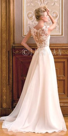 lace wedding gowns with illusion back