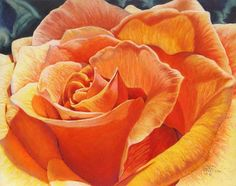 "Gretchen Evans Parker ""Roy's Yellow Rose"" 8 x 10 colored pencil on ampersand pastel board"