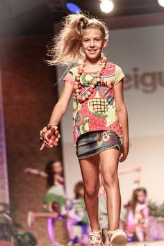 Noemi for Desigual Fashion from Spain  Pitti Bimbo 79 June 2014 Firenze Emily Kornya
