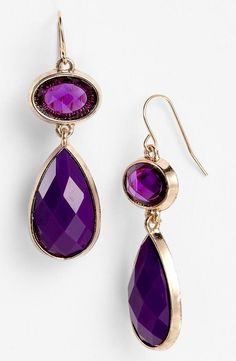 purple.quenalbertini: Purple earrings