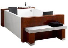 Couple's bath  http://dornob.com/luxury-home-water-lounge-two-person-bath-hot-tub/#axzz2qAEEWTvA