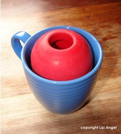 """Frozen """"Dog Smoothies"""" in a Kong! ~~ I blend a banana, a few spoonfuls of peanut butter and water or almond milk, then pour them into a kong (in a cup). Freeze and pull out later as a treat that will keep your dog busy! A batch with 1 banana usually makes 2 kongs at least. With leftover smoothie, freeze in an ice tray as quicker treats. This site also has good ideas for recipes."""