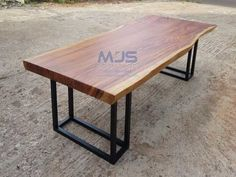 Solid wood meeting table using suar also known as trembesi wood. This is beauty design with metal leg Wood Table, Dining Table, Meeting Table, Ping Pong Table, Solid Wood, Metal, Furniture, Design, Home Decor