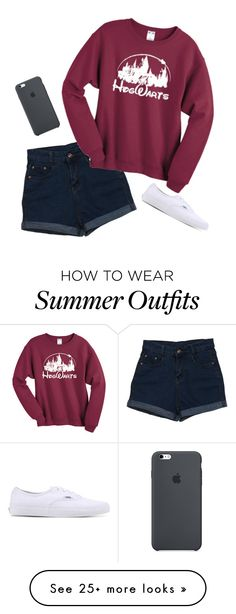"""outfit of the day"" by haileypariswatson on Polyvore featuring Vans"