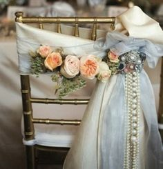 Pearls are a symbol of elegance and style, and they would definitely give charm to your big day. The easiest way to incorporate them is to take pearl jewelry and accessories – necklaces, earrings, belts, clutches and headpieces...