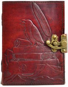 "Raven leather blank book w/ latch [BBBLR450] - $26.95 : Magickal Products, Crystals, Tarot Decks, Incense, and More! - <a href=""http://www.thetarotoracle.com"" rel=""nofollow"" target=""_blank"">www.thetarotoracl...</a>"